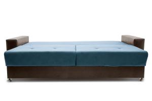 Прямой диван Хлоя Maserati Blue + Sontex Umber Спальное место