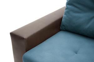 Прямой диван Хлоя Maserati Blue + Sontex Umber Подлокотник
