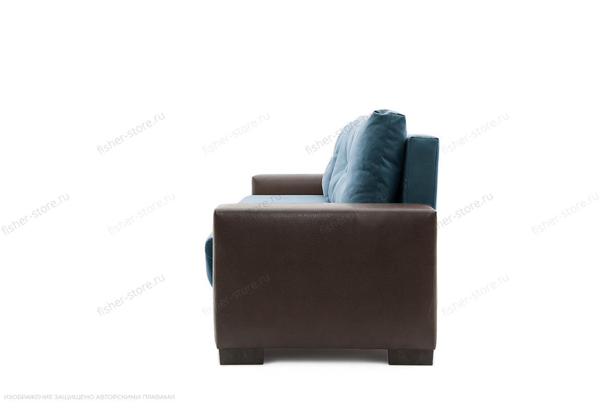 Прямой диван Хлоя Maserati Blue + Sontex Umber Вид сбоку