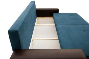 Прямой диван Хлоя Maserati Blue + Sontex Umber Ящик для белья
