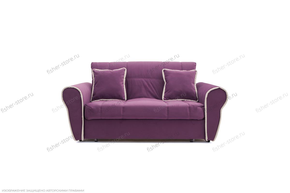 Прямой диван Виа-9 Maserati Purple + Beight Вид спереди