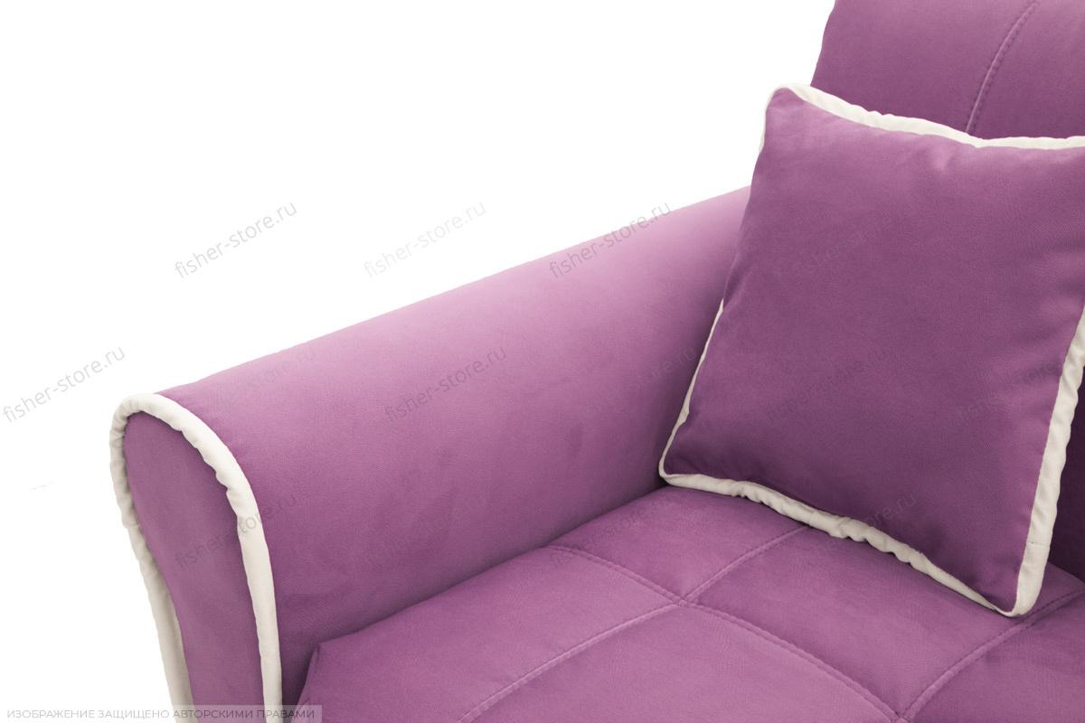 Прямой диван Виа-9 Maserati Purple + Beight Подлокотник