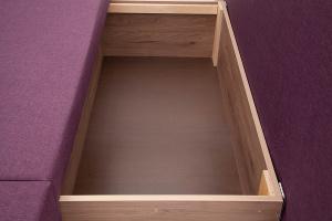Прямой диван Санремо Dream Violet Ящик для белья