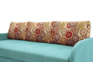 Светлый диван Венеция-4 Orion Blue + History Summer Подушки