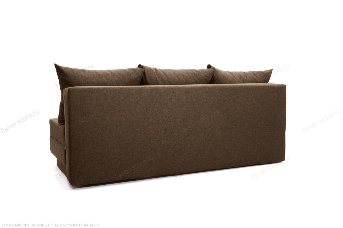 Прямой диван еврокнижка Реал Dream Brown Вид сзади