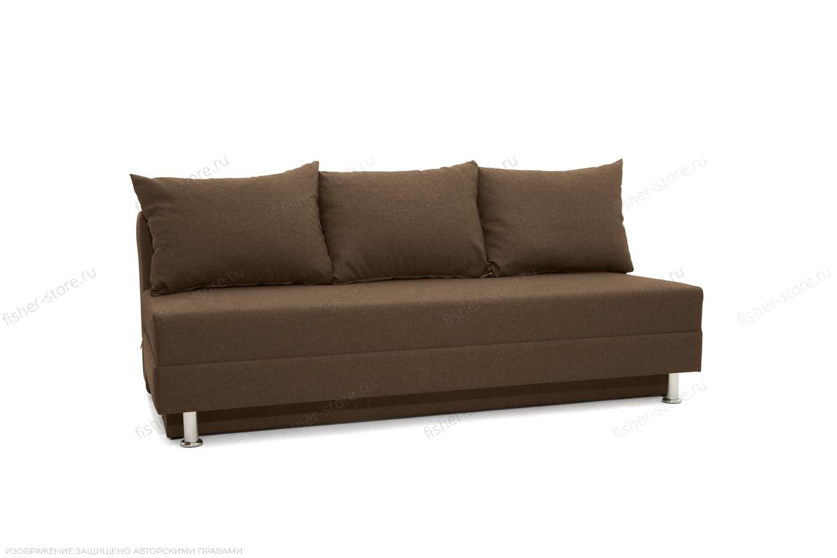 Прямой диван еврокнижка Реал Dream Brown Вид по диагонали