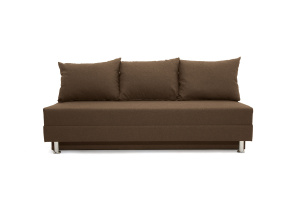 Прямой диван еврокнижка Реал Dream Brown Вид спереди