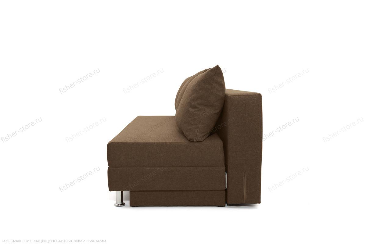 Прямой диван еврокнижка Реал Dream Brown Вид сбоку