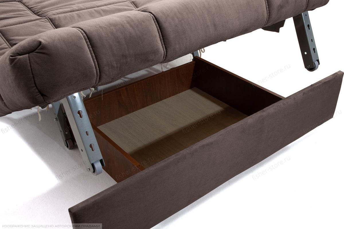 Прямой диван Виа-4 Amigo Chocolate Ящик для белья