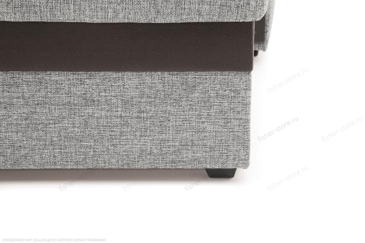 Угловой диван Джексон с накладками МДФ Big Grey + TV Ножки