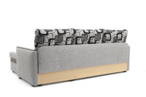 Угловой диван Джексон с накладками МДФ Big Grey + TV Вид сзади