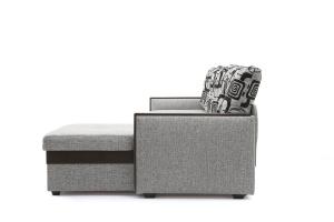 Угловой диван Джексон с накладками МДФ Big Grey + TV Вид сбоку
