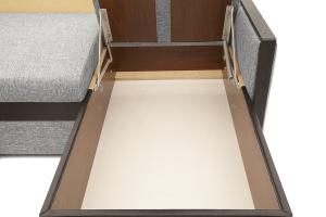 Угловой диван Джексон с накладками МДФ Big Grey + TV Ящик для белья