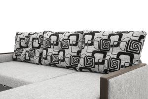 Угловой диван Джексон с накладками МДФ Big Grey + TV Подушки