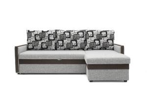 Угловой диван Джексон с накладками МДФ Big Grey + TV Вид спереди