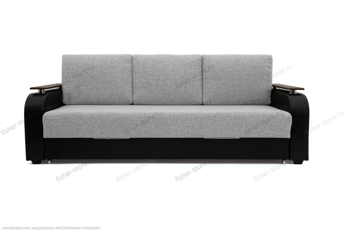 Прямой диван Маракеш Dream Grey + Sontex Black Вид спереди