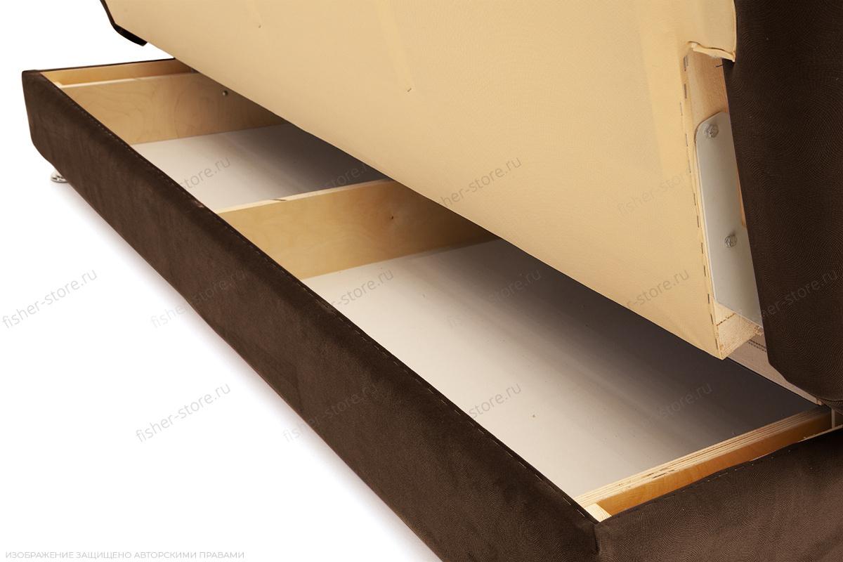 Прямой диван Марсель Maserati Brown Ящик для белья
