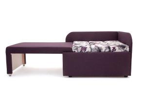 Прямой диван еврокнижка Настя Savana + Iris Violet Спальное место
