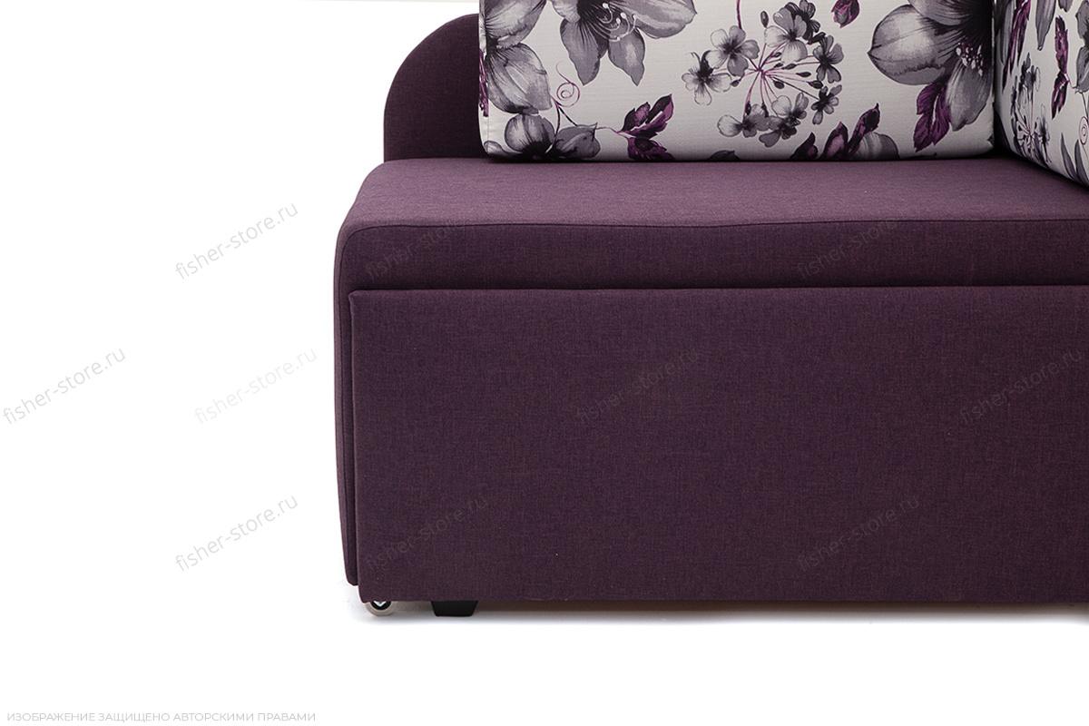 Прямой диван еврокнижка Настя Savana + Iris Violet Ножки