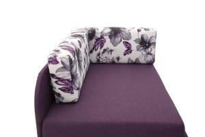 Прямой диван еврокнижка Настя Savana + Iris Violet Подушки