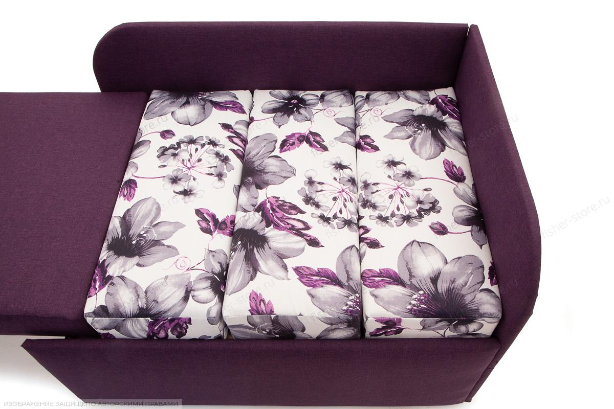 Прямой диван еврокнижка Настя Savana + Iris Violet Механизм