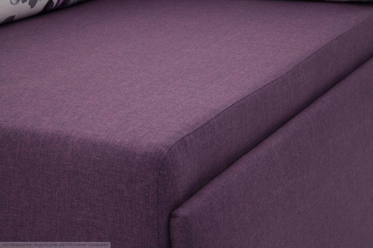 Прямой диван еврокнижка Настя Savana + Iris Violet Текстура ткани