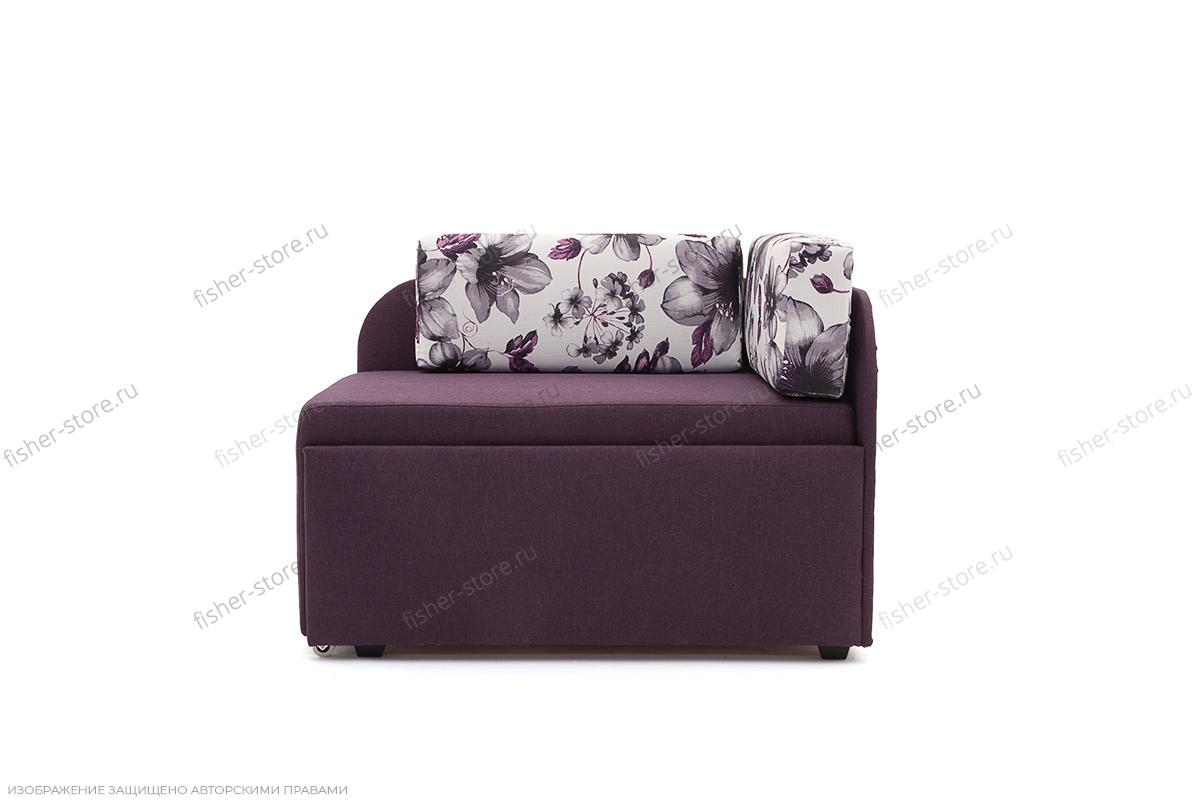Прямой диван еврокнижка Настя Savana + Iris Violet Вид спереди