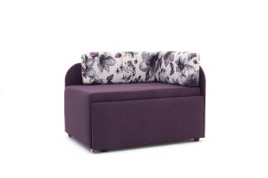 Прямой диван еврокнижка Настя Savana + Iris Violet Вид по диагонали