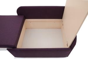 Прямой диван еврокнижка Настя Savana + Iris Violet Ящик для белья