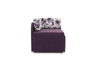 Прямой диван еврокнижка Настя Savana + Iris Violet Вид сбоку
