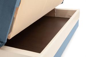 Прямой диван Аккорд (120) Amigo Blue + Sontex Milk Ящик для белья