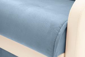 Прямой диван Аккорд (120) Amigo Blue + Sontex Milk Текстура ткани