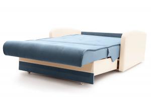 Прямой диван Аккорд (120) Amigo Blue + Sontex Milk Спальное место