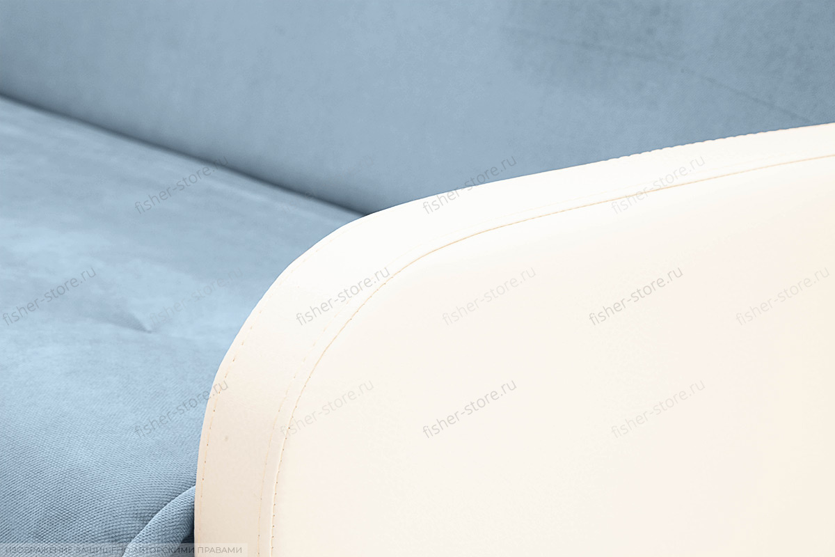 Прямой диван Аккорд (120) Amigo Blue + Sontex Milk Подлокотник