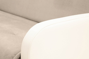 Прямой диван Аккорд (120) Amigo Cream + Sontex Milk Подлокотник