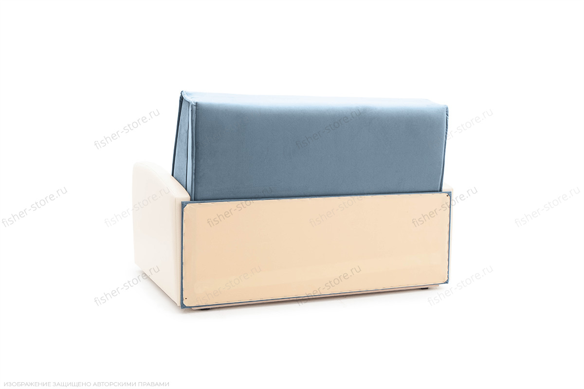 Прямой диван Аккорд (120) Amigo Blue + Sontex Milk Вид сзади