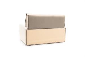 Прямой диван Аккорд (120) Amigo Cream + Sontex Milk Вид сзади