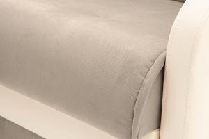 Прямой диван Аккорд (120) Amigo Cream + Sontex Milk Текстура ткани