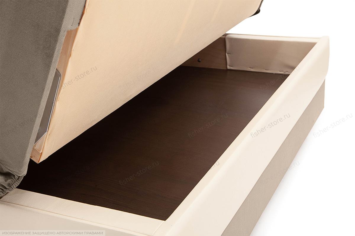 Прямой диван Аккорд (120) Amigo Cream + Sontex Milk Ящик для белья