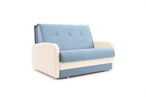 Прямой диван Аккорд (120) Amigo Blue + Sontex Milk Вид по диагонали