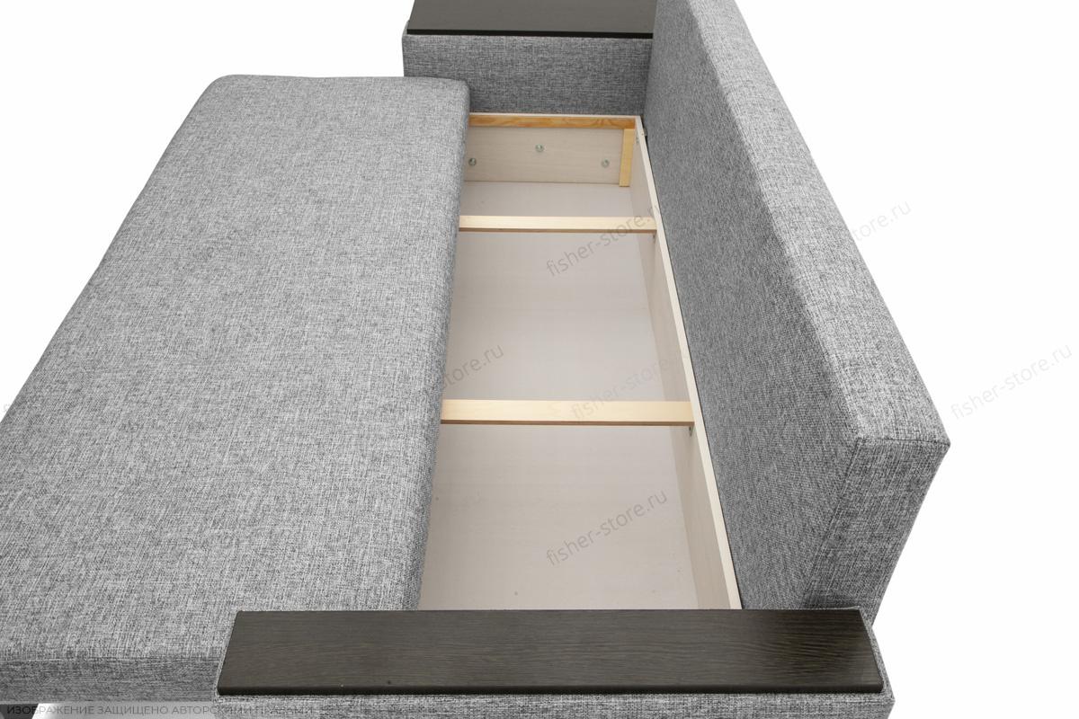Прямой диван Атланта со столом Gray + Sontex Black Ящик для белья