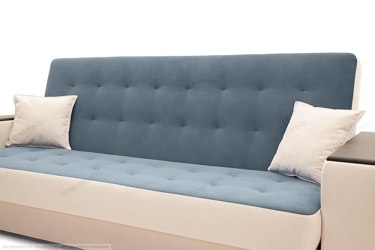 Диван Берри люкс Maserati Grey blue + Beight Подушки