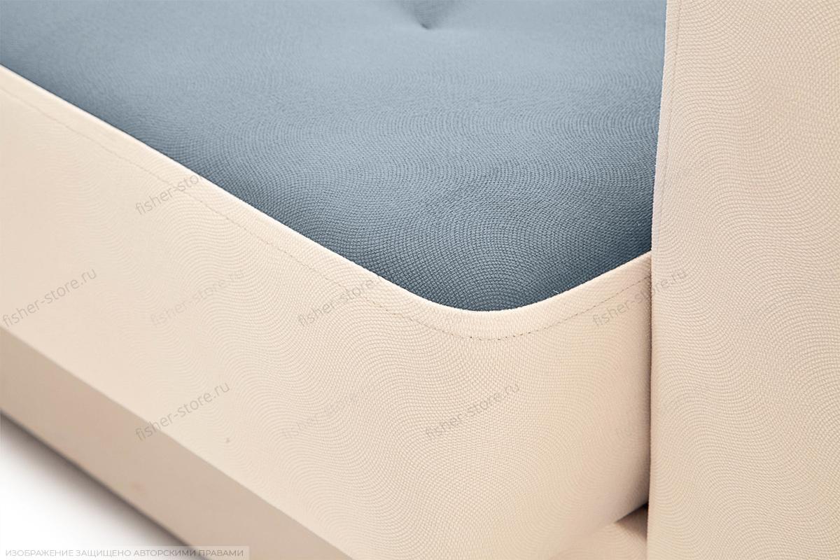 Диван Берри люкс Maserati Grey blue + Beight Текстура ткани