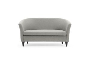 Прямой диван Лорд с опорой №5 Dream light grey Вид спереди