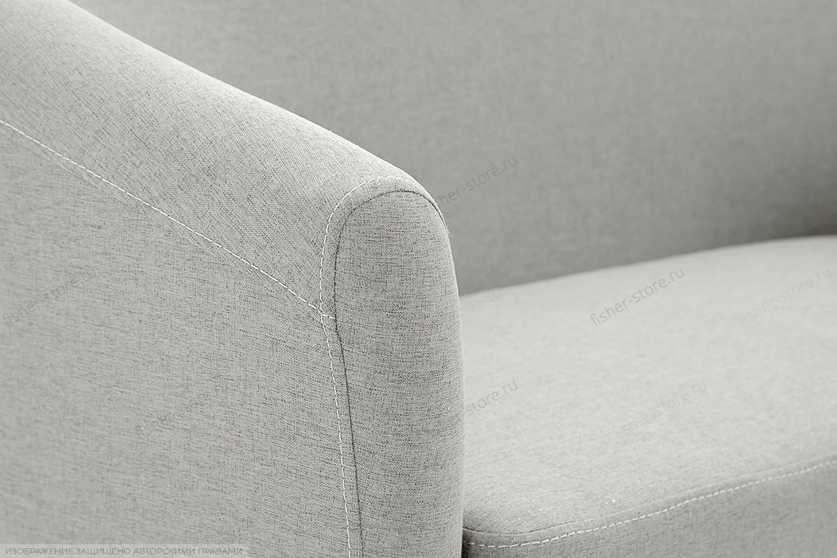 Прямой диван Лорд с опорой №5 Dream light grey Текстура ткани