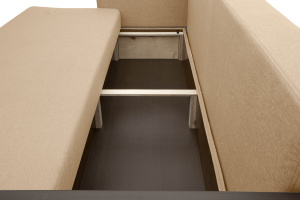 Прямой диван Джонас-2 Дрим Дарк беж Ящик для белья