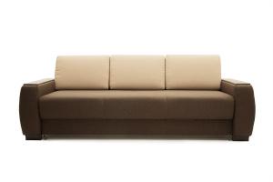 Двуспальный диван Премьер люкс Dream Brown + Savana Camel Вид спереди