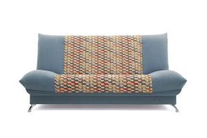 Прямой диван Хилтон-2 вилка Dream Blue + History Bricks Вид спереди