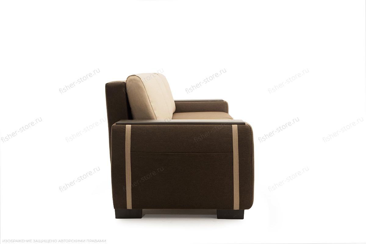 Двуспальный диван Премьер люкс Dream Brown + Savana Camel Вид сбоку