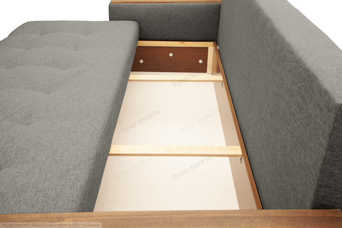 Прямой диван Фокус Dream Grey Ящик для белья